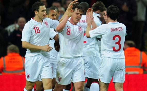 International Friendly, England v Netherlands, Scott Parker, Stewart Downing, Leighton Baines, Ashley Young