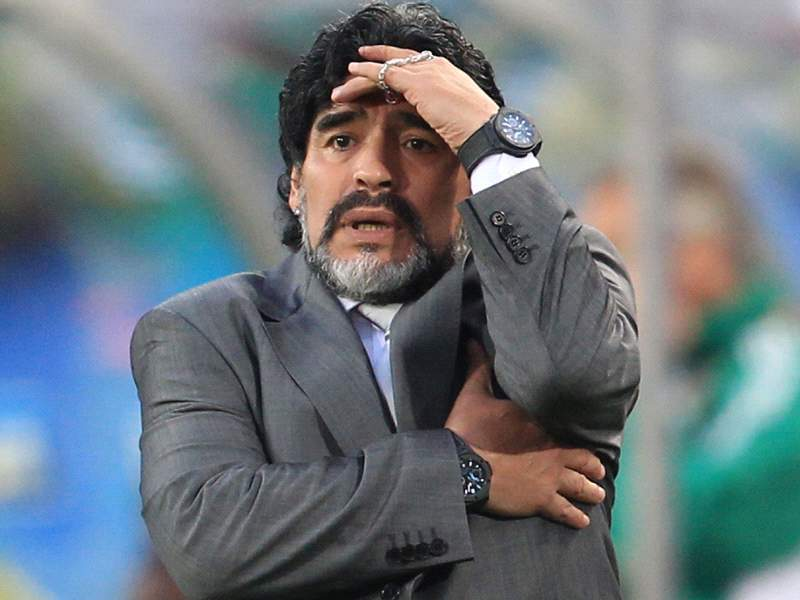 Image result for diego maradona coach worried 2010
