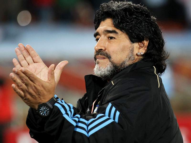 World Cup 2010: Argentina Coach Diego Maradona Wants To Put Jersey ...