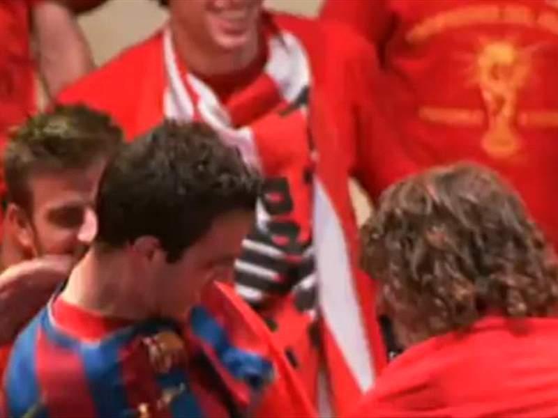 world cup 2010 arsenal captain cesc fabregas celebrates