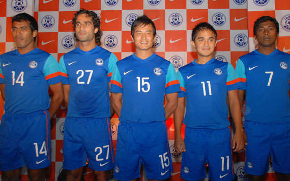 innovative design 7cc83 f9c3b Pictorial: Nike Launch New Kits For Indian Team | Goal.com