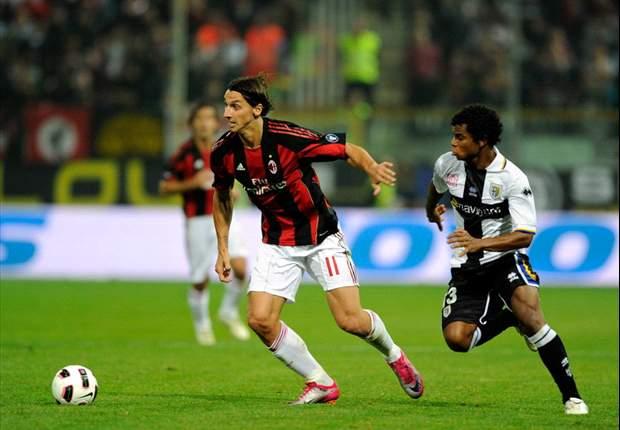 Parma 0-1 AC Milan: Superb Andrea Pirlo strike sends Massimiliano Allegri's men top of Serie A