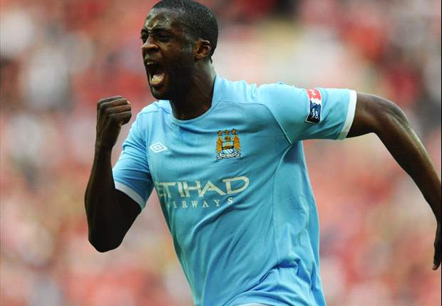 Manchester City 1-0 Stoke City: Yaya Toure strikes again at Wembley as Mancini's men lift FA Cup