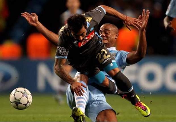 Manchester City 1-1 Napoli: Kolarov free-kick cancels out Cavani opener in thrilling encounter