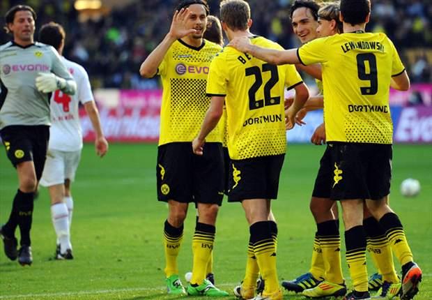 Borussia Dortmund 5-0 Koln: Five-star champions move second in Bundesliga table