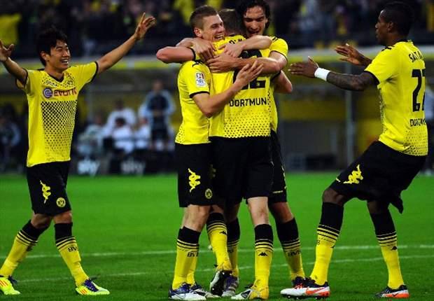 Borussia Dortmund 5-1 Wolfsburg: Gotze brace sends Klopp's men into second place