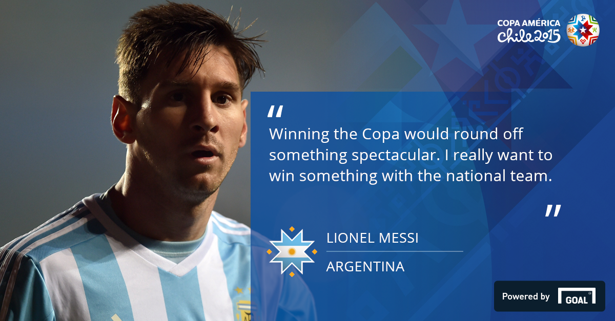 Messi's right: Winning the Copa America would mean as much as World Cup