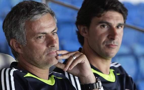 Jose Mourinho y Aitor Karanka - Real Madrid