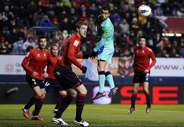 Osasuna 3-2 Barcelona: Pep Guardiola's experimental side lose in Pamplona as La Liga starts to slip away