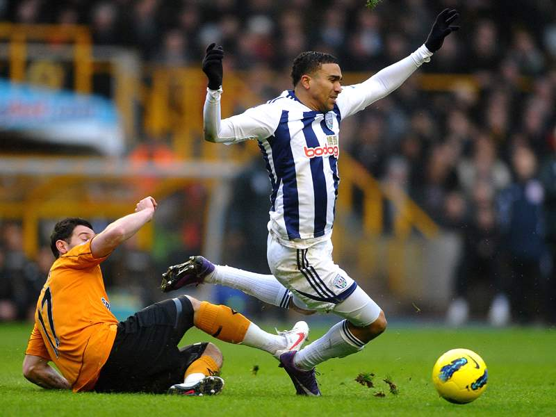 Wolves 1 5 West Brom Peter Odemwingie Hat Trick Inspires Baggies To Emphatic Black Country Derby Win As Hosts Drop Into Relegation Zone Goal Com