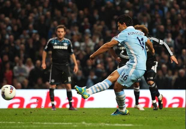 Manchester City-Chelsea 2-1: Derby italiano a Mancini, Aguero e Nasri ribaltano il goal di Cahill