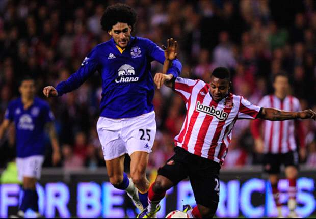 Sunderland 0-2 Everton: Jelavic opener & Vaughan own goal send Moyes' men through to face rivals Liverpool at Wembley