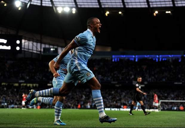Manchester City 1-0 Manchester United: Kompany header settles derby as Mancini's men leapfrog the champions