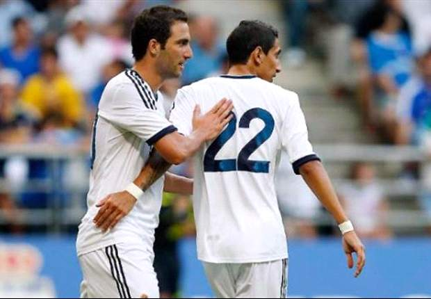 LA Galaxy 1-5 Real Madrid: Higuain and Di Maria among the goals as Arena's men are brushed aside