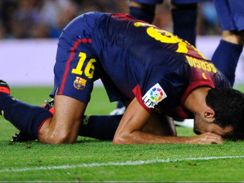 'It's not play-acting, it's being smart' - Busquets