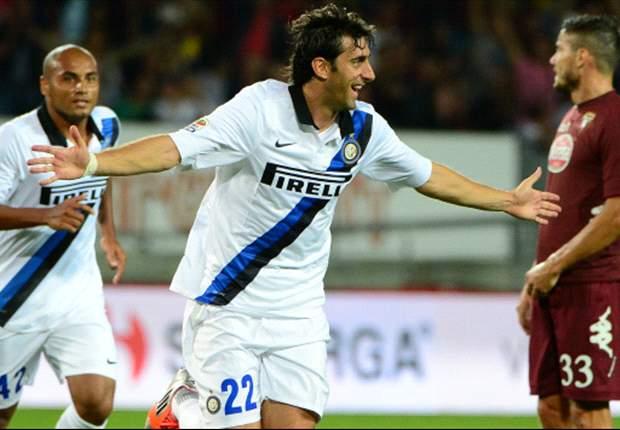 Torino 0-2 Inter: Milito and Cassano seal points