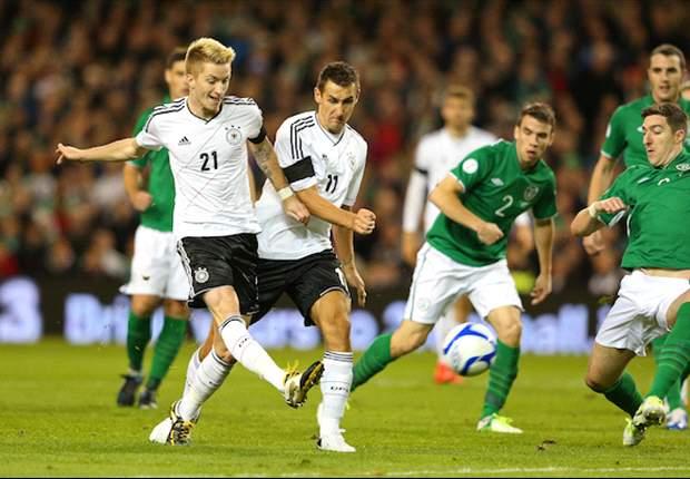 Duitsland vernedert Ierland in Dublin
