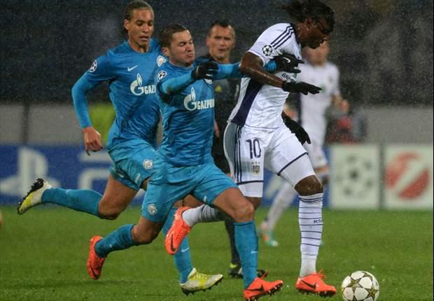 Zenit 1-0 Anderlecht: Kerzhakov penalty rescues unconvincing hosts