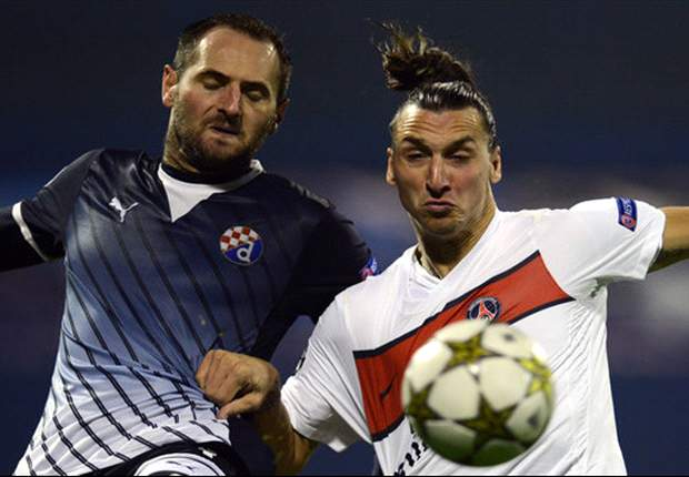Dinamo Zagreb 0-2 Paris Saint-Germain: Ibrahimovic and Menez secure Croatian cruise