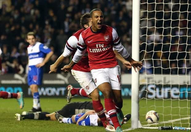 Reading 5-7 Arsenal: Theo Walcott lidera la remontada del año para los Gunners