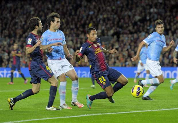 Barcelona 3-1 Celta Vigo: Adriano, Villa & Jordi Alba on target as hosts maintain unbeaten league record