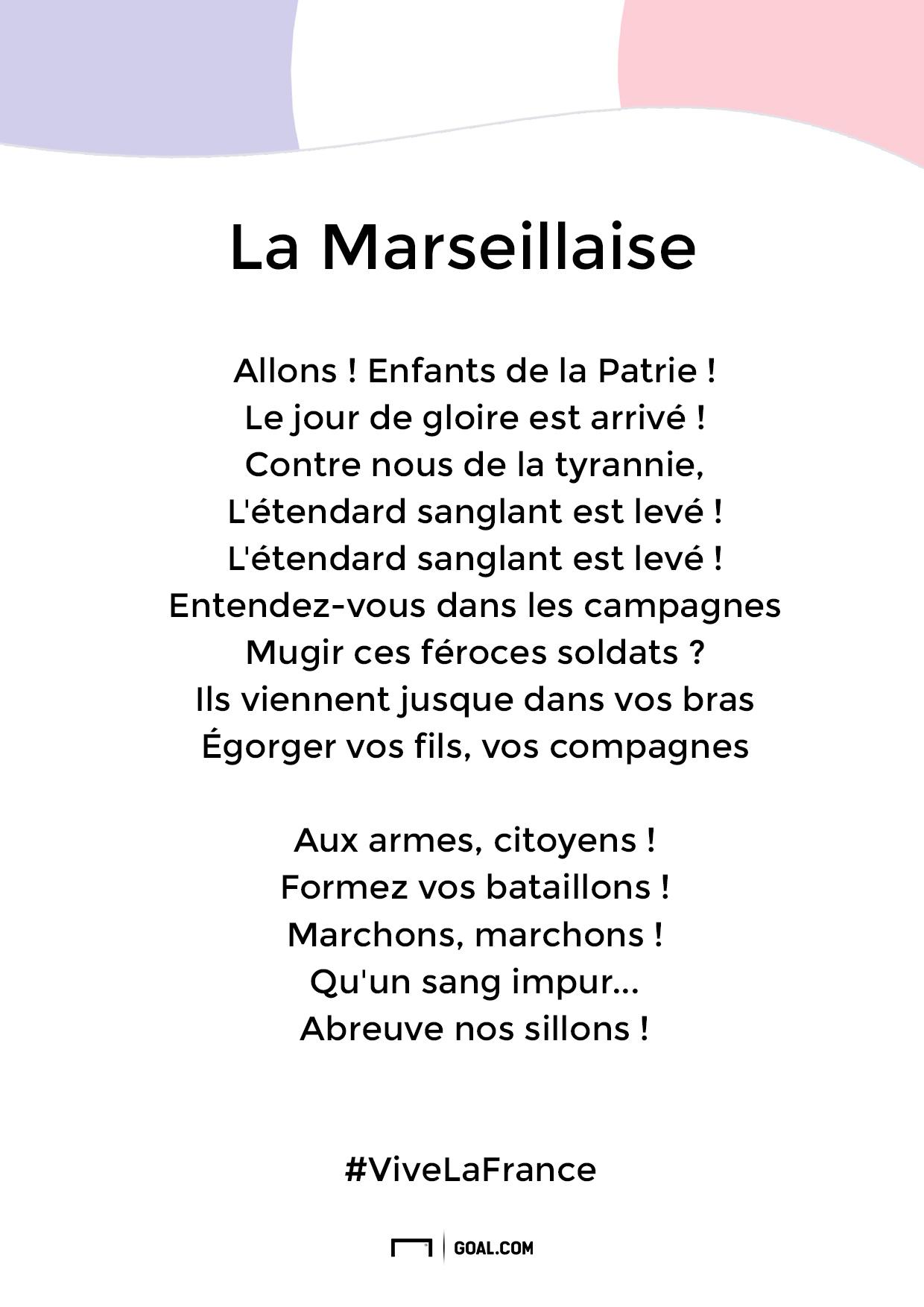 French National Song Lyrics