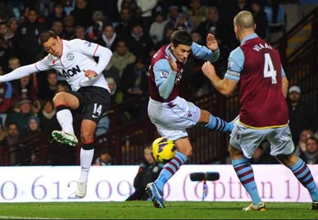 Aston Villa 2-3 Manchester United: 'Chicharito' amarra el liderato