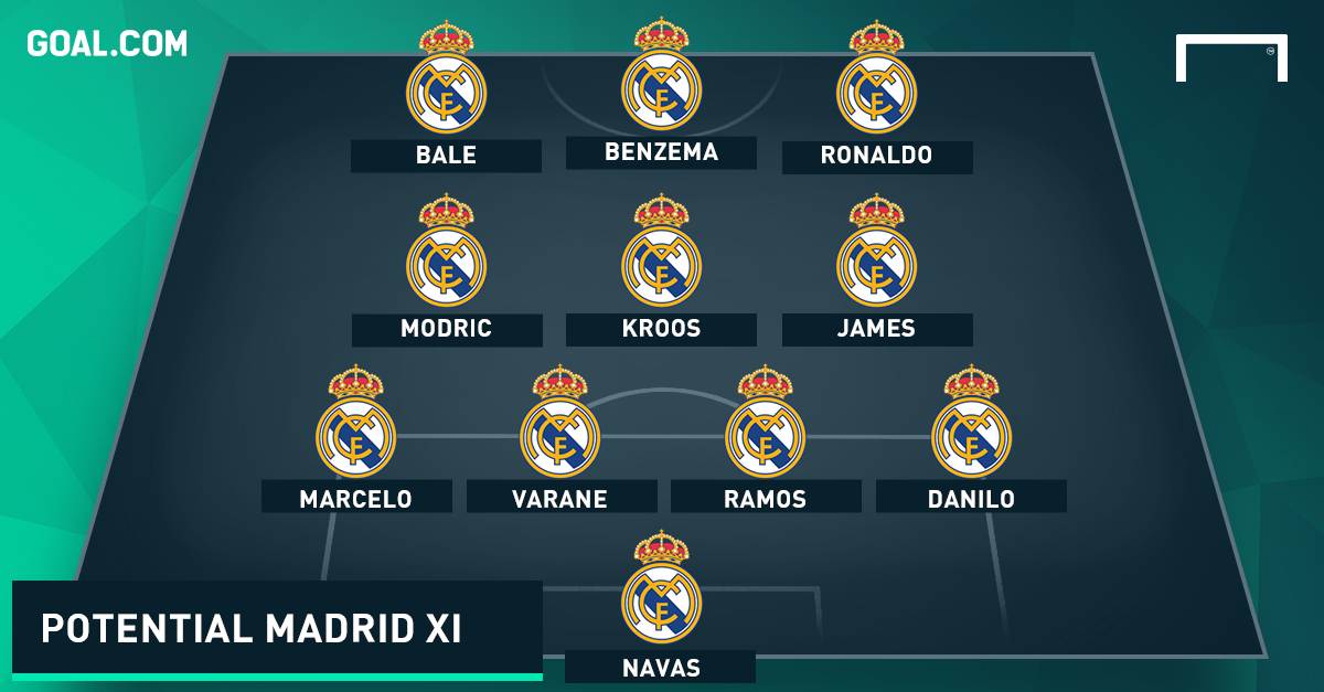 Real Madrid News How Madrid Could Line Up Against Barcelona Goal Com