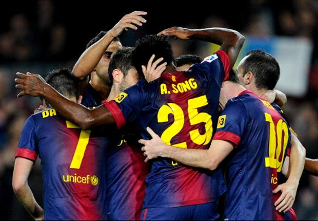 Barcellona-Saragozza 3-1: Doppio Messi e Song regalano la vittoria ai blaugrana, sempre più inarrestabili
