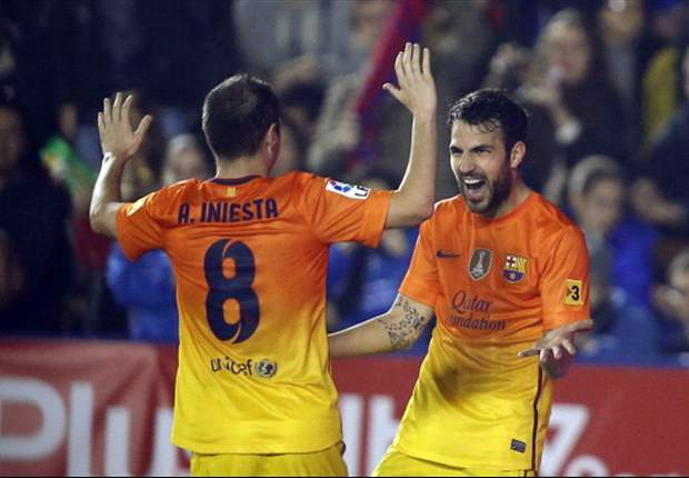 Levante 0-4 Barcelona: Ingenious Iniesta inspires Blaugrana to victory