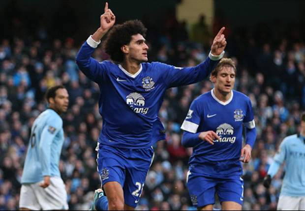 Manchester City-Everton 1-1: Apre Fellaini, risponde Tevez su rigore, i 'Toffees' bloccano gli uomini di Mancini