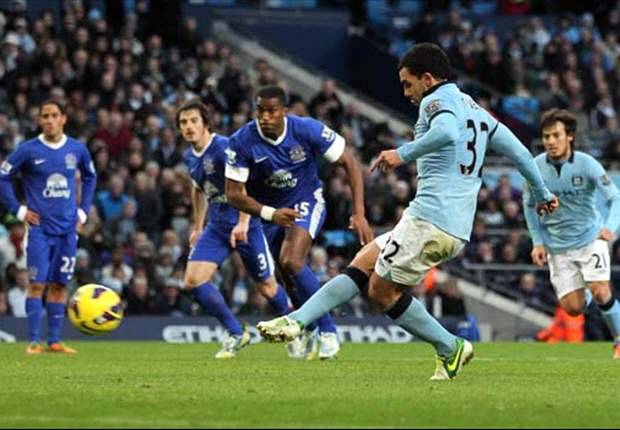 Manchester City 1-1 Everton: Champions forced to settle for point after Tevez equaliser