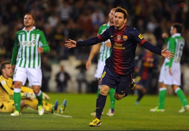 Betis-Barcellona 1-2: Non basta un goal di Ruben Castro, Messi fa doppietta e supera il record di Gerd Müller