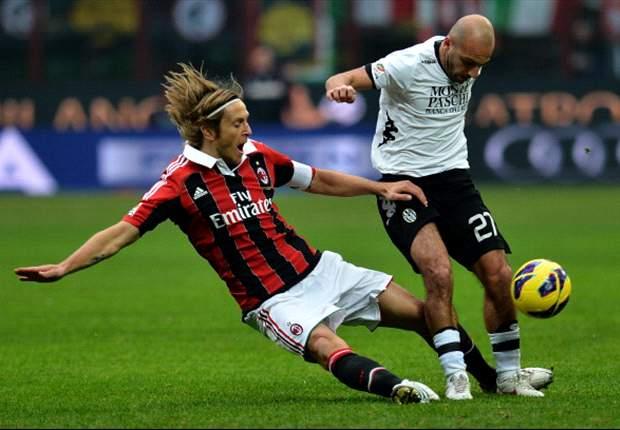 AC Milan 2-1 Siena: Rossoneri battle past basement boys