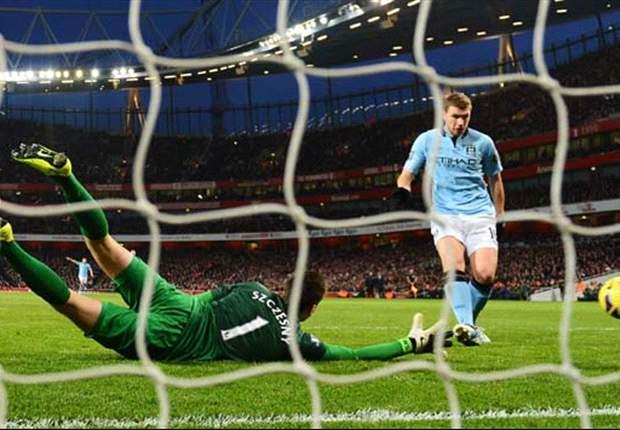 Arsenal 0-2 Manchester City: Milner & Dzeko down Gunners as both sides see red