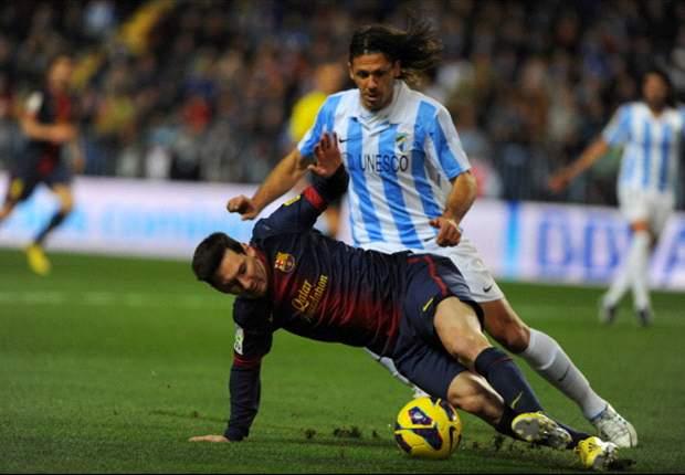 Malaga-Barcellona 1-3: Messi, Fabregas e Thiago Alcantara firmano la vittoria blaugrana a 'La Rosaleda'