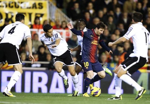 Valencia-Barcellona 1-1: Blaugrana fermati sul pari, ai catalani non basta un rigore di Messi
