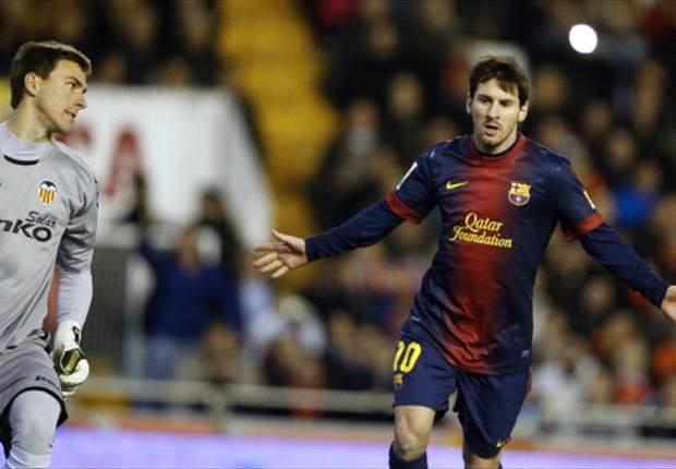 Valencia 1-1 Barcelona: Messi penalty denies Los Che