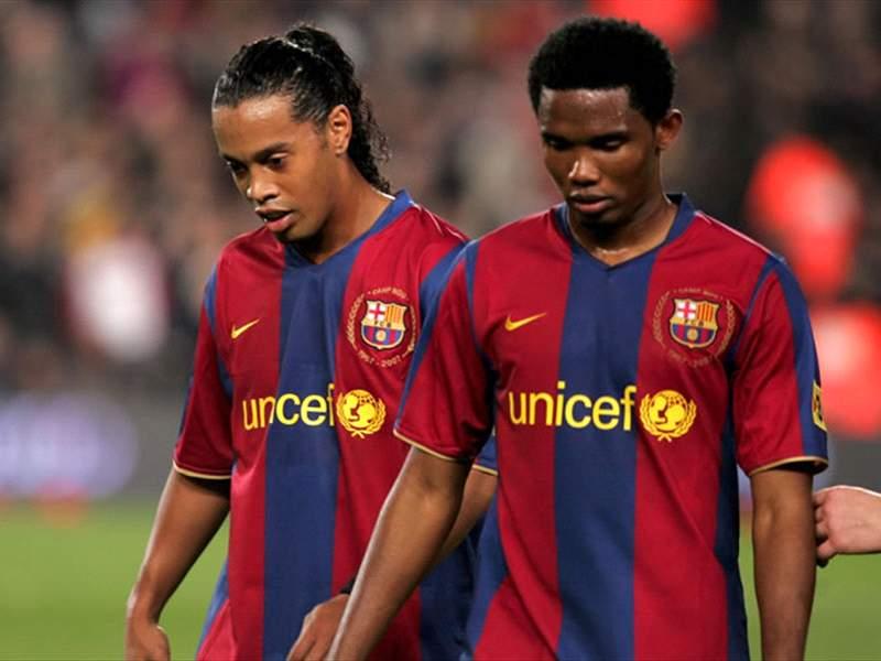 Watch Eto'o's emotional birthday message to Ronaldinho in prison
