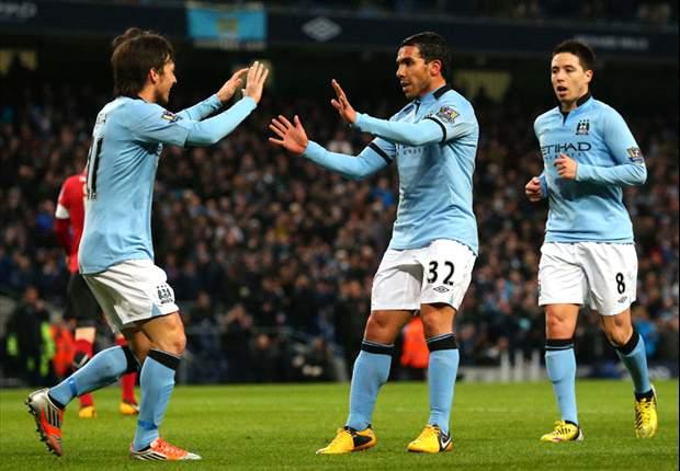 Manchester City 5-0 Barnsley: Tevez treble sends rampant hosts to Wembley semi