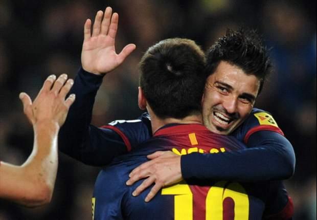 Barcelona 3-1 Rayo Vallecano: Messi and Villa combine for straightforward win