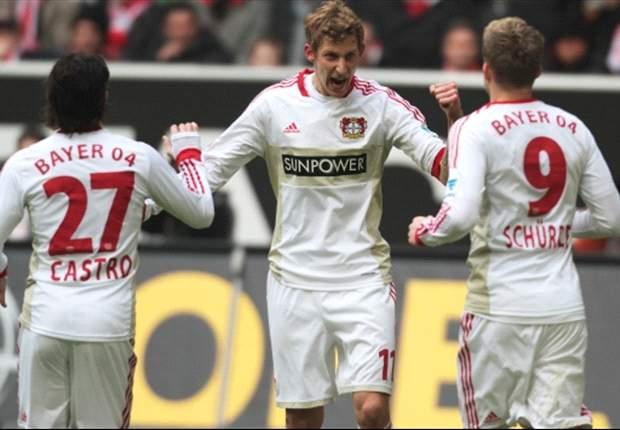 Bundesliga Round 27 Results: Kiessling at the double for Leverkusen