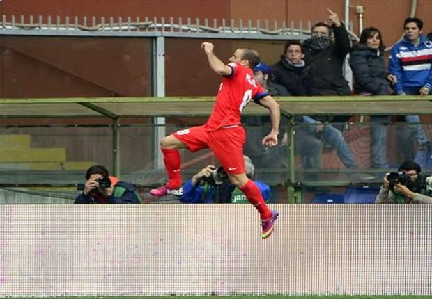 Sampdoria 0-2 Inter: Palacio keeps Nerazzurri's top three hopes alive