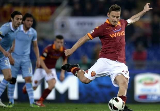 Roma 1-1 Lazio: Totti penalty denies 10-man Biancocelesti derby win
