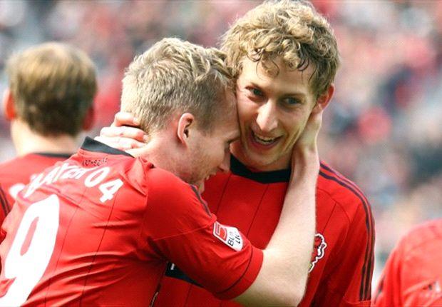 Bundesliga Round 30 Results: Schurrle and Kiessling star in Leverkusen five-goal rout