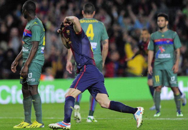 Barcellona-Levante 1-0: Fabregas salva i catalani orfani di Messi