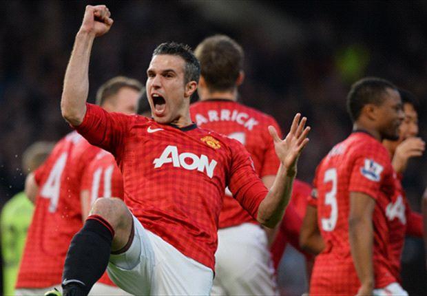 Manchester United 3-0 Aston Villa: Van Persie hat-trick seals Premier League title