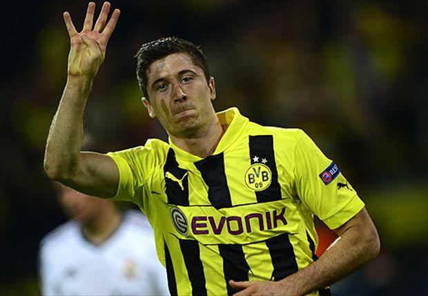 Vierfacher Robert Lewandowski lässt Borussia Dortmund vom Finale träumen