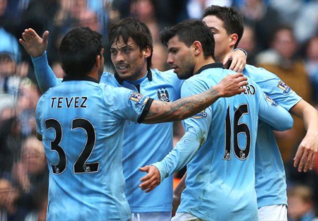 Manchester City 2-1 West Ham: Aguero and Yaya Toure secure narrow win