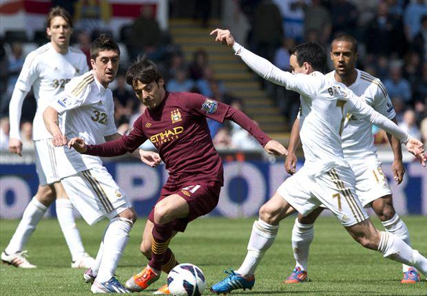 Swansea 0-0 Manchester City: Dzeko misses late sitter in end-of-season stroll